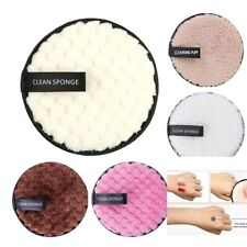 Round Microfiber Cotton Pads Makeup Remover Puff Towel Face Cleansing Wipe