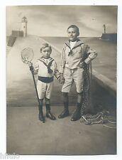 C480 Photo vintage originale Enfant children déguisement Marin Pécheur