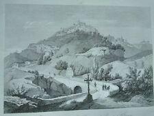 1845 Zuccagni-Orlandini Veduta di Ariano nella Provincia di Principato Ulteriore