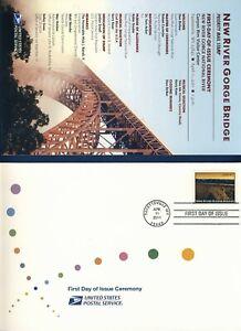 USA. 2011 New River Gorge Bridge (4511) . First Day Cover & Ceremony Program