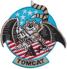 United States Navy USN Grumman F-14 Tomcat With Wings Shaped Embroidered Patch