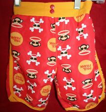 PAUL FRANK SWIM SHORTS, BOYS STYLE 3T TODDLERS, RED YELLOW, PULL ON, EUC