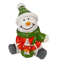 2″ Christmas Village Figurine Hand Crafted Décor House Resin Santa Snowman