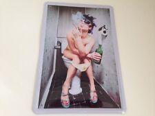 Blechschild Raucher Pause Girl Toilette WC Klo ! 20x30 cm - BESTSELLER