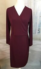 Belle by Kim Gravel Knit Crossover Dress Purple Small QVC