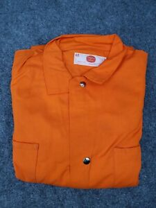 Vintage Mens 48 Adolphe Lafont Coveralls Made in USA Mechanic Jumpsuit Orange
