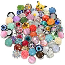 20pcs/lot 18mm Snap Button Mixed Patter Theme Snap Charms For Snap Jewelry HM003
