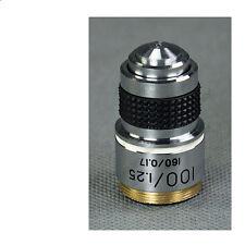 RMS Thread Microscope  Achromatic Objective Lens 100X W/ Oil Spring