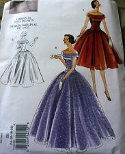 1950s VOGUE VINTAGE MODEL EVENING DRESS SEWING PATTERN 14-16-18-20 UC