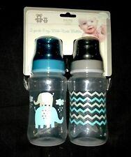 """New! Infant Boys 2 pk """"Cribmates"""" Baby Bottles sz 11 oz Nip"""