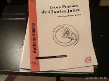 Anthony Girard: 3 Poemes de Charles Juliet, baritone & piano (Symetrie)