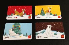 🇨🇦 CANADA 2019 MCDONALDS CHRISTMAS GIFT CARD ----- LOT OF 4 PCS. --- NEW