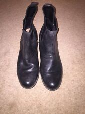 Clarks Gore-tex Active Air Black Leather Pull-on Boots Size UK 7.5 *C1