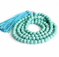 8mm Turquoise Necklace Chakas Meditation Lucky Healing yoga Wristband Bless