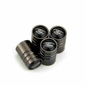Black Chrome Ford Car Tire Valve Stem Caps Cover Black F150 F350 Ranger US