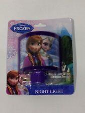 Disney Frozen Elsa Anna Night Light Purple Kids Wall Plug In New