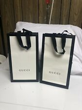 Gucci Paper Shopping Bags White With Black Border