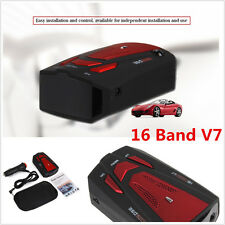 360° Detector Car 16 Band V7 Speed Police Safe Radar Detector Voice Alert Laser