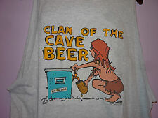 Vintage 90s Clan Of The Cave Beer Cave Woman Sleeveless Tank Top T Shirt 2XL