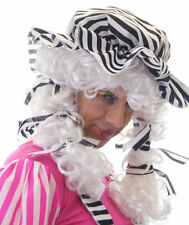 Cenerentola brutta Sorella/Panto Dame/Maschio Cenerentola Black & White Parrucca & Mocio Cappello