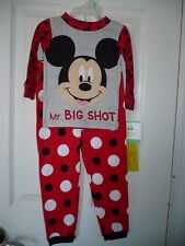 Mickey Mouse Boys Pajamas Size 9 MONTHS Mr. Big Shot Shirt & Pant Snug Fit