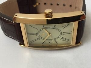"""New Mens """"GW"""" Gold Plated Cream Dial Stylish Watch, Wood Gift Box, Great Value"""