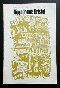 West Side Story programme Bristol Hippodrome Theatre 1972 Jim Smilie Ray Davis