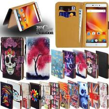 For Various ZTE Mobile phones - Leather Wallet Card Stand Flip Case Cover+Stylus