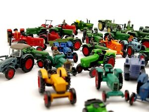 1:87 H0 FENDT MAN John Deere Hanomag Deutz Traktoren Schlepper Modellbau Spur TT