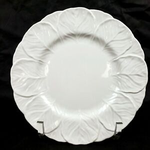 Vintage COALPORT White Countryware Bone China Dinner Plate Cabbage Leaf ENGLAND