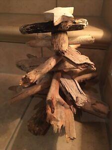 Tannenbaum - Weihnachtsbaum - Dekotanne - Holz - Natur- ca. 25x25 Cm Schwemmholz