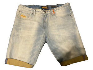 Mens Superdry Corporal Slim Denim Shorts - W32