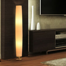 Modern 4ft Floor Lamp Fabric Light Round Stainless-Steel Base Living Room Décor