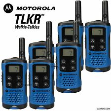 6 X Motorola tlkr T41 2 manera Walkie Talkie Set PMR 446 Radio Kit-Blue Six Pack