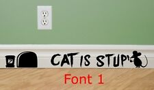 MOUSE GRAFFITI WRITER funny wall decal CAT IS STUPID stickers Mice funny vinyl