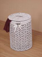 Wäschekorb Wäschesammler Wäschetruhe Wäschebox Truhe Wäschetonne weiß