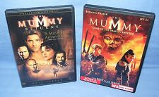 2 DVD SET - The Mummy Returns & The Mummy, Tomb of the Dragon Emperor