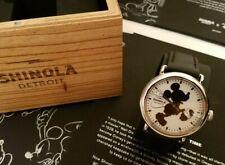 Shinola Disney Mickey Runwell 41mm Watch, Black Color, Silhouette- Brand New,