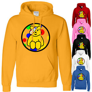 Pudsey Bear Childern In Need Kids Hoody Spotty Day Charity Fundraise Boys Hoodie