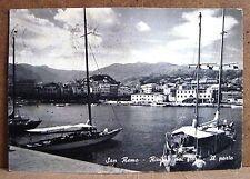San Remo - Riviera dei Fiori - il porto [grande, b/n, viaggiata]