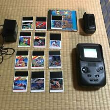 PC Engine GT main unit with 12 cassettes tested NEC rare