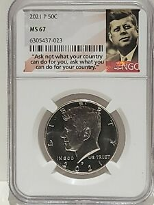 2021-P 50c Kennedy Half Dollar NGC MS67, Combined Shipping
