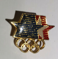 1984 Olympic Pin Los Angeles Summer Games Stars in Motion Logo