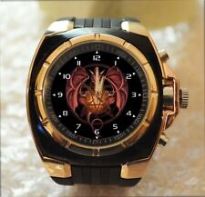 SATAN PENTAGRAM DRAGON 100% UNIQUE Commando Army Style Chunky Sport Wrist Watch