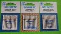30 Nähmaschinennadeln SCHMETZ Nadel 130/705 H Stärke 80-100 und Jersey 70-90