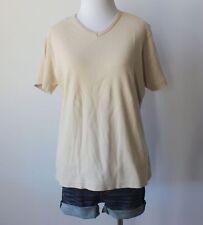 PARTNERS Mervyns Basic V Neck Short Sleeve Stretch Knit Tee Shirt Top Blouse L