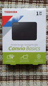 Toshiba Canvio Basics 1TB Externe Festplatte - Schwarz (HDTB410EK3AA) NEU