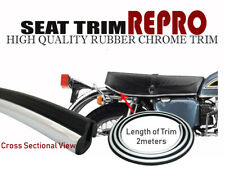 HIGH QUALITY MOTORCYCLE MOTORBIKE CHROME RUBBER SEAT SADDLE COVER TRIM 2M LENGTH