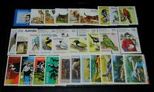 1980 Australian stamps. Complete set, mint unhinged.