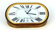 "VINTAGE CARTIER ""LES MUST DE CARTIER"" ENAMEL DESK CLOCK, 1985 Swiss Made"